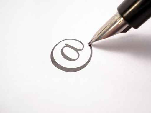 pen writing an arroba