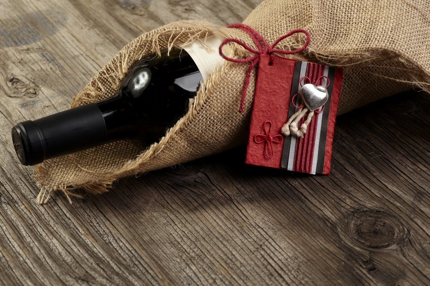 red wine bottle with message